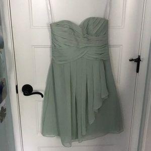david's bridal sea foam green dress